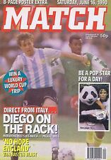 ARGENTINA / CAMEROON / MARADONA / STEVE THOMPSON Match Jun 16 1990