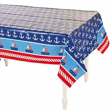 Nautical Sailor Table Cover Baby Shower Supplies Decorations Party Sailing Theme
