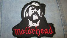 Motorhead Lemmy Kilmister & Logo Embroidered Patch Rock Band Snaggeletooth Warp.