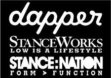 dapper stanceworks stancenation sticker pack 250mm fatlace illest canibeat jdm