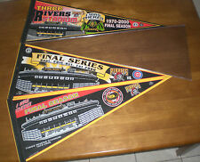 3 PIRATES THREE RIVERS STADIUM FINAL SEASON & FINAL SERIES PENNANTS