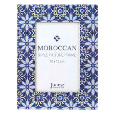 Photo Frame Moroccan Mosaic Blue Wooden Photo Frame