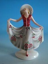 0513A1-245: Goldscheider Wien Austria Keramik Figur Art Deco Dame Lorenzl