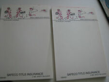 Pink Panther Make Tracks with Safeco Title Insurance  2 Notepads 1984 4x6