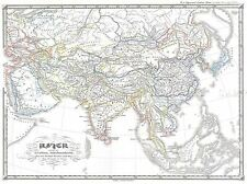 GEOGRAPHY MAP ILLUSTRATED OLD SPRUNER ASIA 2ND CENTURY HAN CHINA PRINT BB4478A
