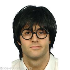 Mens School Boy Set Wig Glasses Fancy Dress Costume Harry Potter Theme Wizard