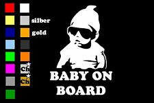 BABY ON BOARD Auto Aufkleber Sticker 15cm x 10cm Fun shocker Kind LKW