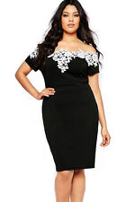 Sexy Plus Size Women Off Shoulder DRESS Evening Party Club Wear Top 3XL,16 / 18