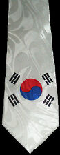 SOUTH KOREA NECKTIE NEW TIE FLAG SEOUL REPUBLIC OF KOREAN PEOPLE COUNTRY