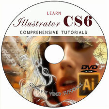 LEARN ADOBE ILLUSTRATOR CS6 VIDEO TUTORIALS TRAINING DVD BEGINNERS/INTERMEDIATES