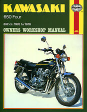 Haynes Manual 0373 - Kawasaki Z650B1/KZ650B1 (76 - 78) service/workshop/repair