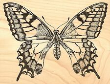 Old World Swallowtail Butterfly, Wood Mounted Rubber Stamp JUDIKINS - New, 2560I
