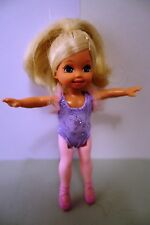 Barbie doll little sister Shelly as ballerina,lilac costume, pink legs & shoes