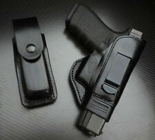 Fit Glock 17,19,22,23,24,26,27,31,32,33,34,35,37,38,39 IWB LEATHER HOLSTER COMBO