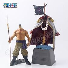 One Piece Grandline Men White Beard Edward Newgate + Tombstone PVC Figure Set NB