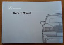 1989 Mercedes Benz 190E/190 E 2.6 Owners Manual - New Old Stock - W201