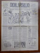 DON BASILIO 4 Dicembre 1949 Spionaggio Mario Segni Tupini Prefetto di Milano di