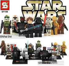 LEGO STAR WARS MINIFIGURES BLOCKS LUKE SKYWALKER DARTH MAUL DARTH VADER C3PO..