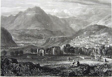 Greece, PHOCIS CRISSA CHRISSO VILLAGE MOUNT PARNASSUS ~ 1829 Art Print Engraving