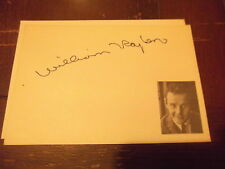 Fletch The Postman Always Rings Twice WILLIAM TRAYLOR hand signed card