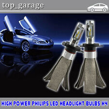 100W H4 9003 HB2 Philips Chips LED Headlight Kit 14000LM Hi/Lo Beam 6000K Bulbs