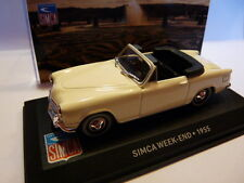 Voiture 1/43 IXO altaya SIMCA : cabriolet WEEK-END 1955