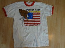Men's Operation Desert Storm Support Our Troops L (42-44) Vintage T-Shirt Tee