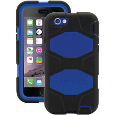 GENUINE GRIFFIN SURVIVOR IPHONE 6 IPHONE 6S BLACK BLUE TOUGH CASE COVER