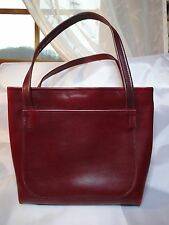 """Vintage Quality Handmade Red Leather Purse """"Leather By Karen"""" Very Unique Ooak"""