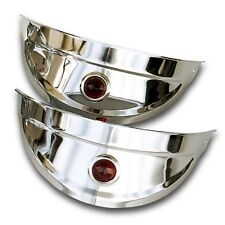 HEADLIGHT VISOR WITH RED DOTS 1940'S 1950'S CHEVY FORD ALL 7 INCH HEADLIGHTS