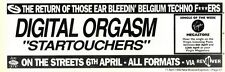 "11/4/92 Pgn37 ADVERT 3X11"" DIGITAL ORGASM : STARTOUCHERS"