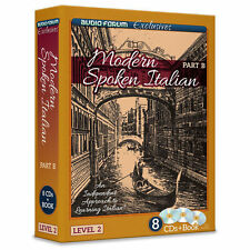 Modern Spoken Italian Part B (8 CDs/Book) by Audio Forum Exclusives *NEW IN BOX*