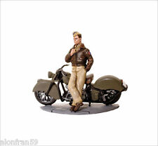 LEAD SOLDIERS MOTORCYCLE - Airforce Pilot USA 1945, Indian Chieff - SMI009