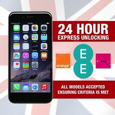 Apple iPhone 6S 6 5S SE 5S 5 Factory Unlocking Service For EE ORANGE T-MOBILE UK