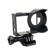 BLK Camera Border Case Housing Frame Mount + UV Protector For GoPro HERO 3 3+ 4