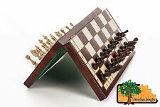 """SUPERB """"LARGE MAGNETIC"""" WOODEN CHESS SET 38 x 38cm"""