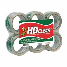 Duck Brand HD Clear High Performance Packaging Tape 6-Pack 54.6 Yards (441962)