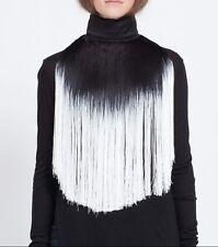 Ann Demeulemeester FW13 Runway Black/White Fringe Collar Necklace RARE