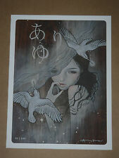 Audrey Kawasaki Uria signed numbered giclee art print poster 2008 sold out