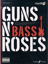 Guns N Roses Bass Guitar TAB Learn to Play Metal Rock Music Book & CD