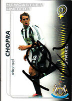 Newcastle United F.C Michael Chopra Hand 05/06 Premiership Shoot Out Signed Card