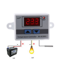 12V 120W Digital LED Temperature Controller 10A Thermostat Control Switch Probe