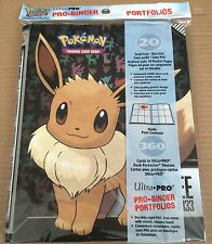 Ultra Pro Pokemon Eevee Pro Binder Portfolio Folder Side Loading 9 Pocket - NEW