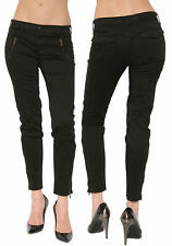 Sz 25 J Brand Jeans Women's Agnes  Black Stretch Skinny zipper Ankle Pants Soft