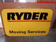 Large Vintage RYDER Truck Trucking Company Moving Services Sign NOS RARE!!!