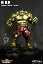 "SIGNED BY ""STAN LEE"" BOWEN DESIGNS Incredible HULK RETRO STATUE FAUX BRONZE MIB!"