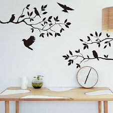 New Living Room Tree Branch Birds Wall Sticker Vinyl Decal Removable Wall Paper