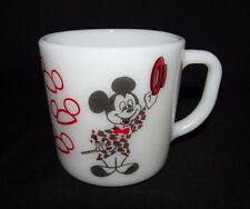 Vintage Mickey Mouse Club Milk Glass Coffee Mug Cup Mickey Mouse Ringmaster Tea