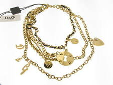 D&G collana Multiple acciaio dorato con charms referenza DJ0507 new