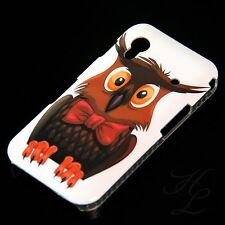 Samsung Galaxy ACE S5830 Hard Handy Case Schutz Hülle Etui Eule Schleife Owl